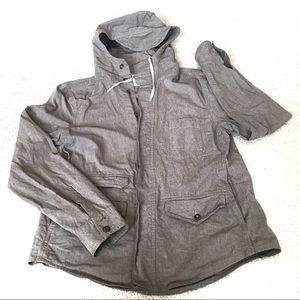 All Saints Sematic Khaki Green Hooded Jacket -M